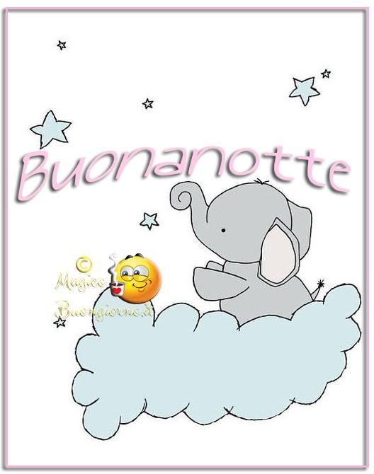 Buonanotte Elefante immagini belle per whatsapp gratis